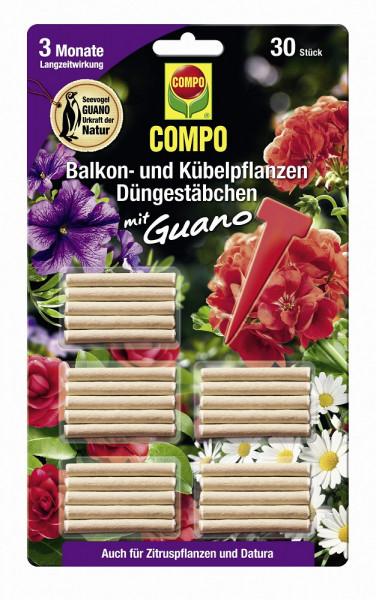 Balkon- und Kübelpflanzen Düngestäbchen mit Guano 30 Stk_1647