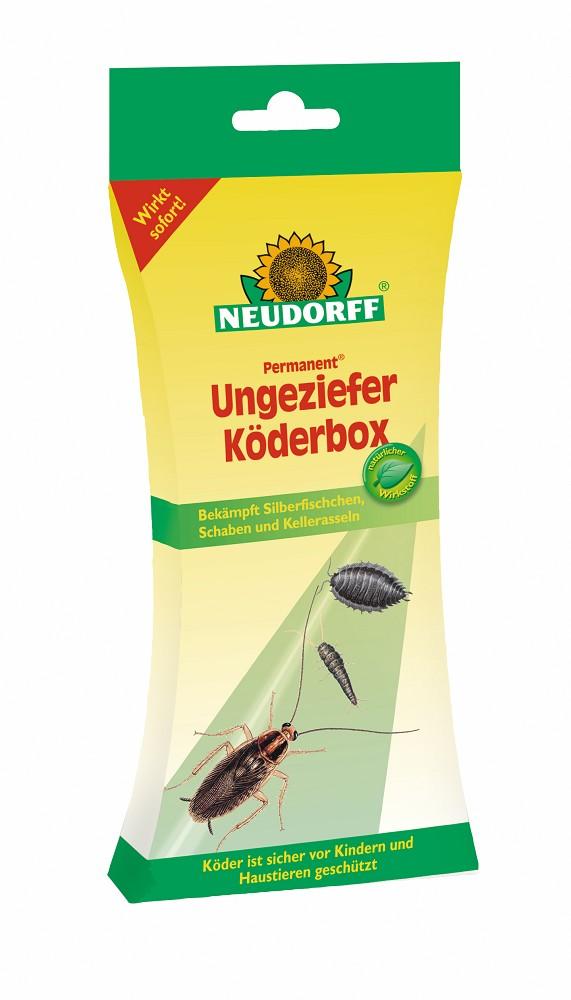 neudorff permanent ungeziefer k derbox gegen silberfischchen schaben heimchen kellerasseln. Black Bedroom Furniture Sets. Home Design Ideas